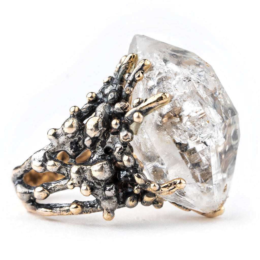 Herkimer Diamond Ring - One of a Kind