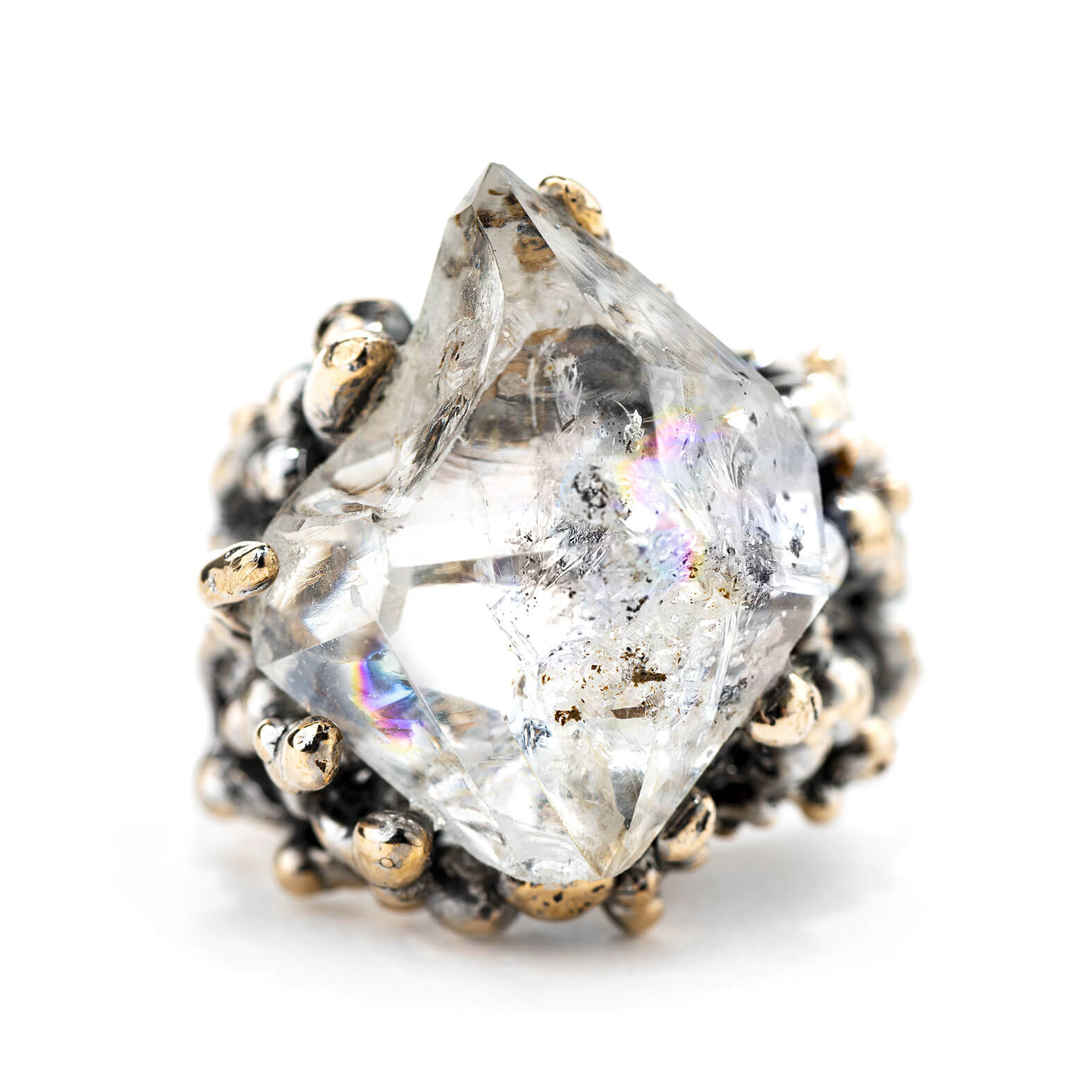 Herkimer Diamond Ring Crystal Jewelry For Healing