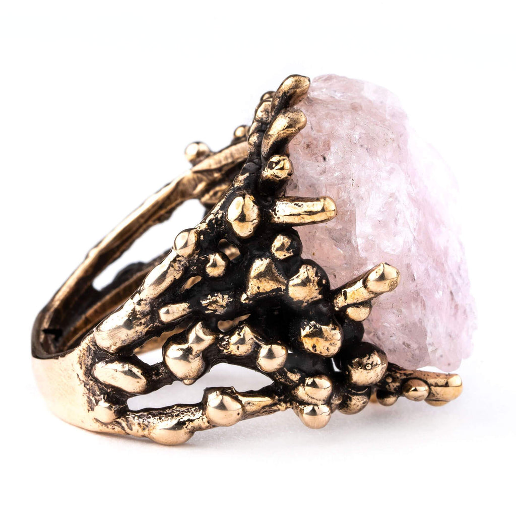 Morganite Ring Healing Jewelry by Giardinoblu