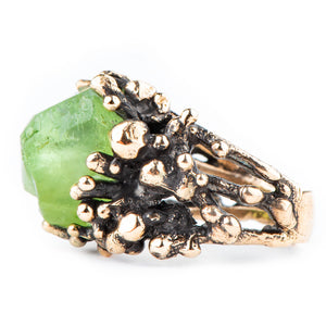 Peridot Statement Ring - Unique Piece - Giardinoblu Jewellery Milan