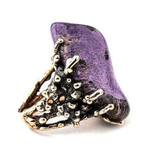 Stichtite Ring, Jewel for spiritual healing by Giardinoblu