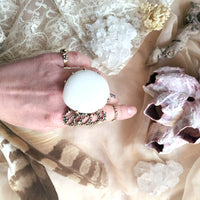 White Jade Statement Ring - Gemstone Jewelry for Healing and Chakra balance