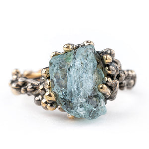 Aquamarine Band Ring - One Of a Kind