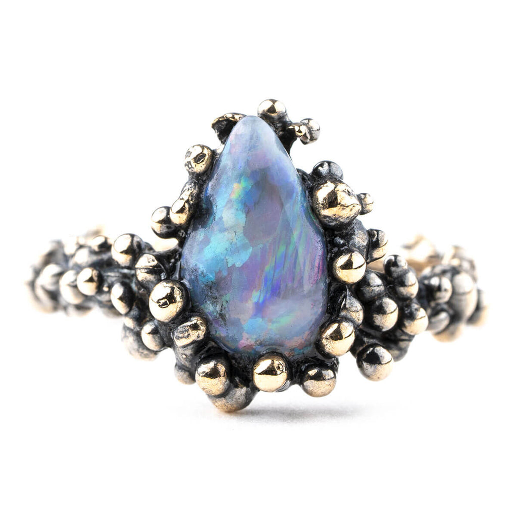 Nobile Opal (from Australia) Band Ring - Unique Piece