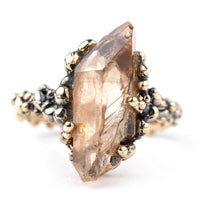 Hematoid Quartz Band Ring - One of a Kind