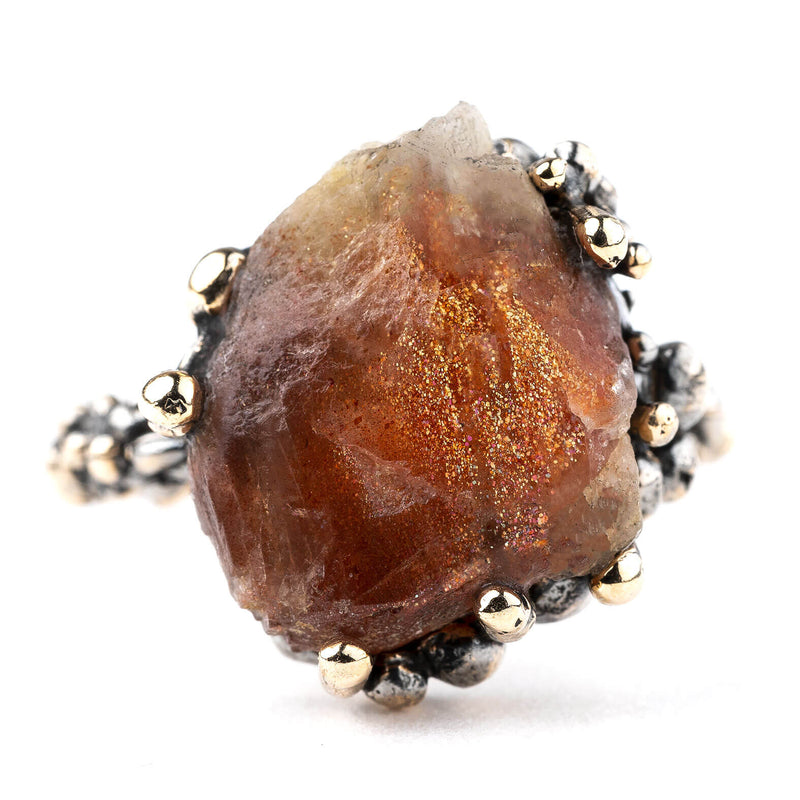 Sunstone Band Ring - One of a Kind