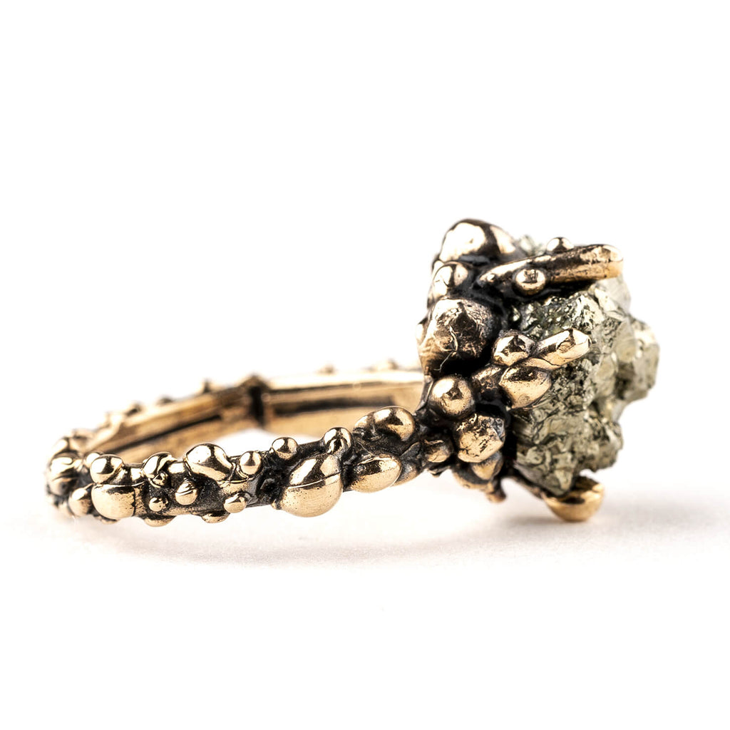 Band Ring with Pyrite - One of a Kind