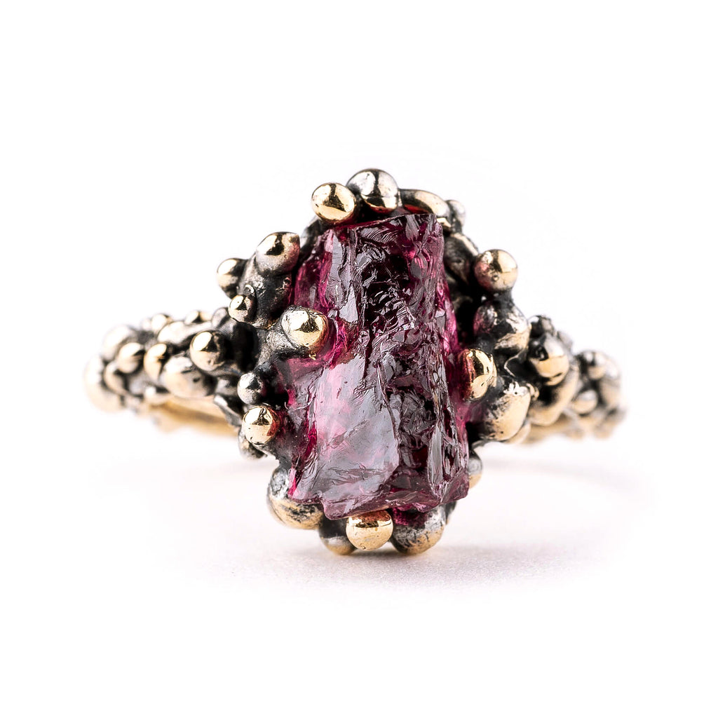 Cherry Tourmaline Band Ring (Rubellite) - One Of a Kind