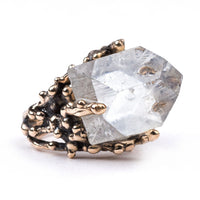 Clear Quartz Statement Ring - Unique Piece - Giardinoblu Jewellery Milan