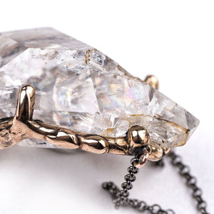 Herkimer Diamond Necklace - One of a Kind - Giardinoblu Jewellery Milan