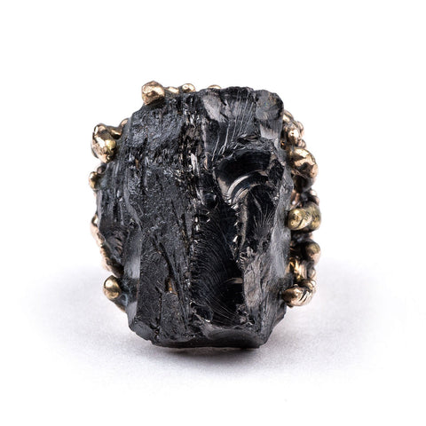 Rings - Shungite Ring - One Of A Kind Statement For Men And Women