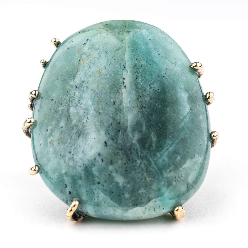 Amazonite Statement Ring - crystal healing jewelry
