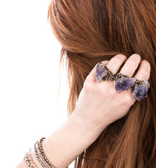 Raw Amethyst Ring - One of a Kind Statement