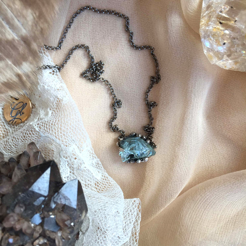 Small Aquamarine Necklace - One of a Kind