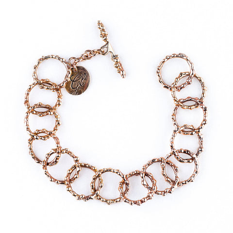 Nickel Free Bronze Handcrafted Chain Bracelet - Fully Adjustable
