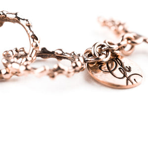 Nickel Free Bronze Handcrafted Chain Bracelet - Fully Adjustable - Giardinoblu Jewellery Milan