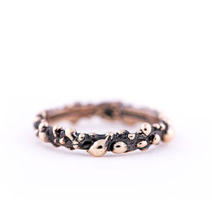 Vintage Bronze Stackable Band Ring - Giardinoblu Jewellery Milan