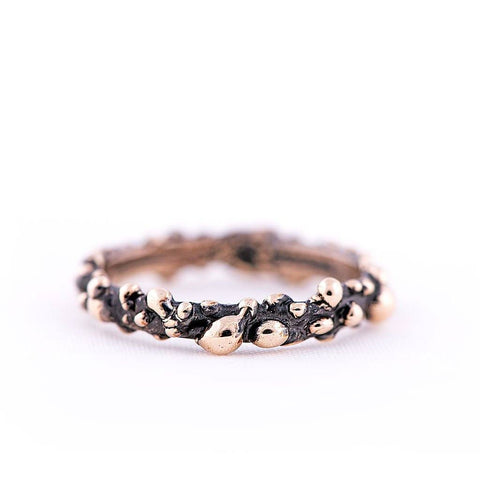 Antique Bronze Stackable Ring