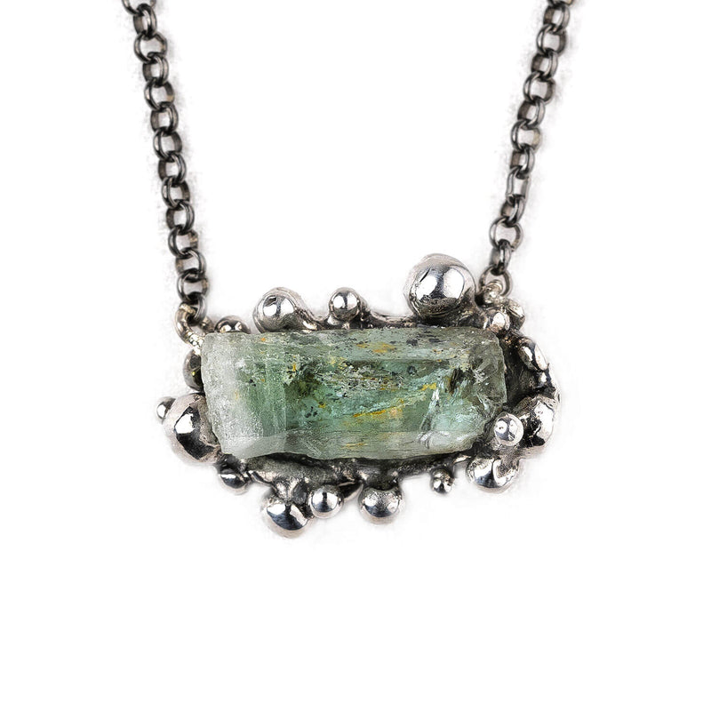 Aquamarine Necklace - Unique Piece jewel for healing