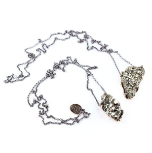 Pyrite Necklace - One of a Kind - Giardinoblu Jewellery Milan