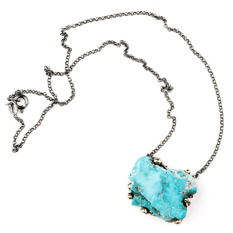 Natural Turquoise Necklace - Unique Piece - Giardinoblu Jewellery Milan