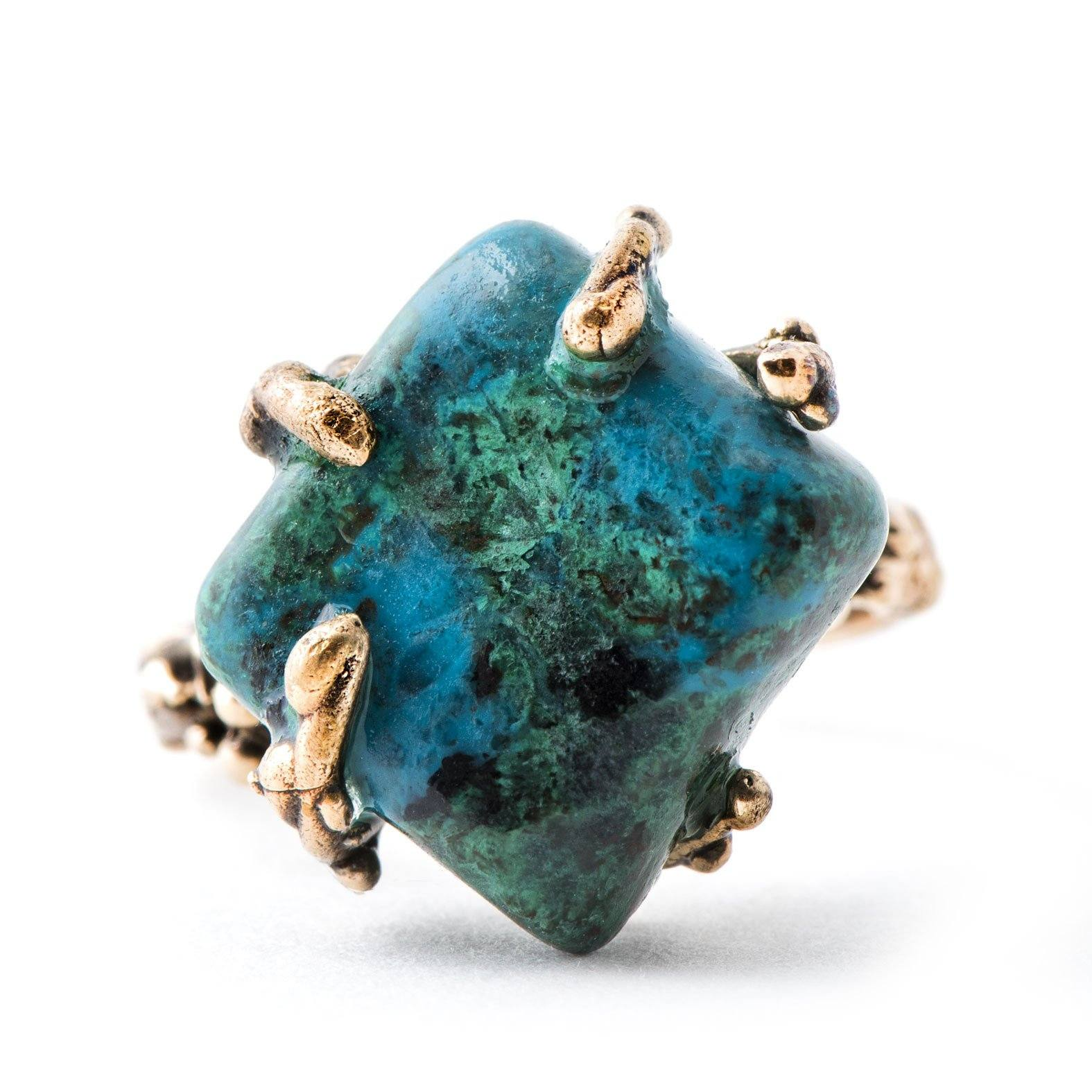 Chrysocolla Gemstone Ring - One of a kind
