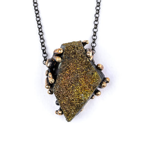 Rainbow Pyrite Necklace - Gemstone jewelry fro healing