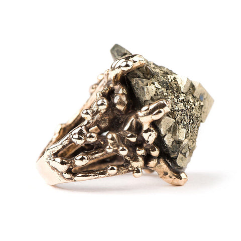 Pyrite Statement Ring - Unique Piece