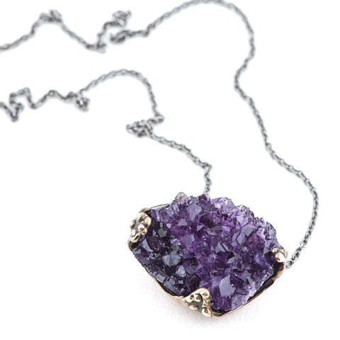 Jewelry for healing Amethyst Necklace - Giardinoblu Jewellery