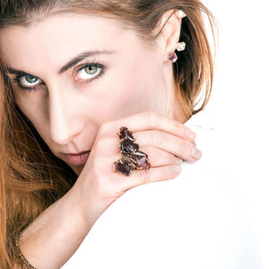 Garnet Gemstone Ring - One of a kind - Giardinoblu Jewellery Milan