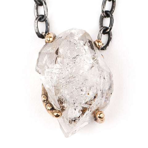 Herkimer Diamond Necklace - One of a kind piece for men and women