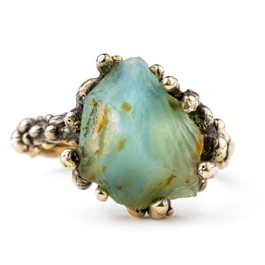 Blue Opal Band Ring - One of a Kind