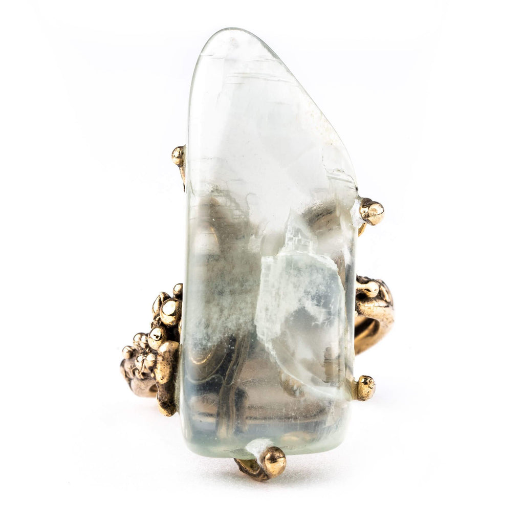 Moonstone Ring - Crystal Healing Jewelry Giardinoblu
