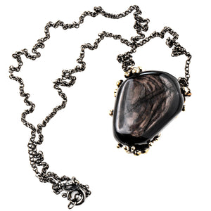 Silver Obsidian Necklace - One of a Kind