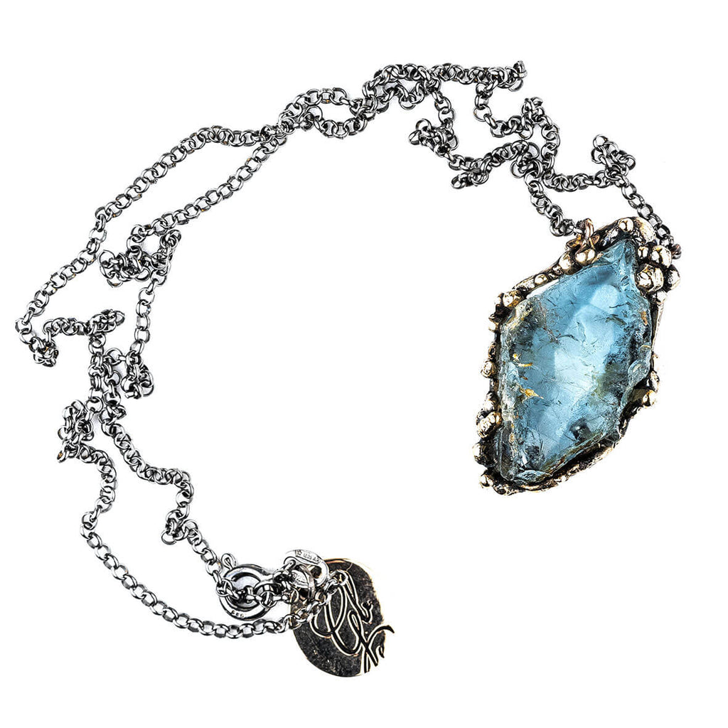 Blue Topaz Necklace - Unique Piece