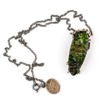 Ammolite Necklace - Unique Piece