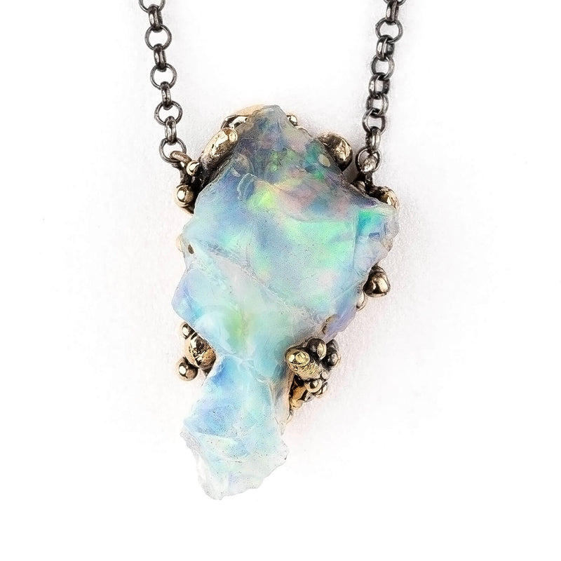 Ethiopian Opal Necklace | Crystal Jewelry for Healing | Giardinoblu