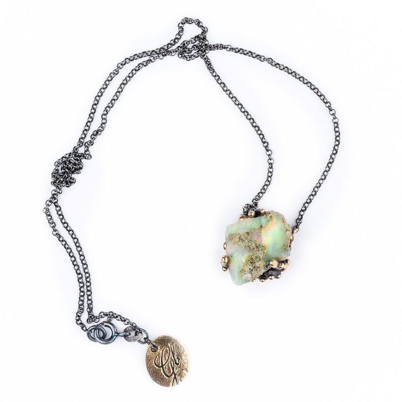 Ethiopian Opal Necklace - jewelry for healing