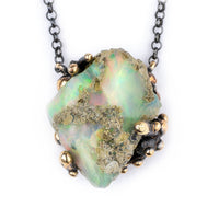 Ethiopian Opal Necklace - crystal healing jewelry