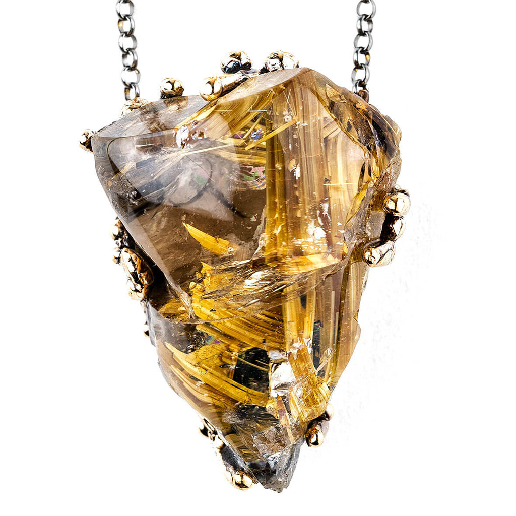 Rutilated Quartz Necklace - Unique Piece