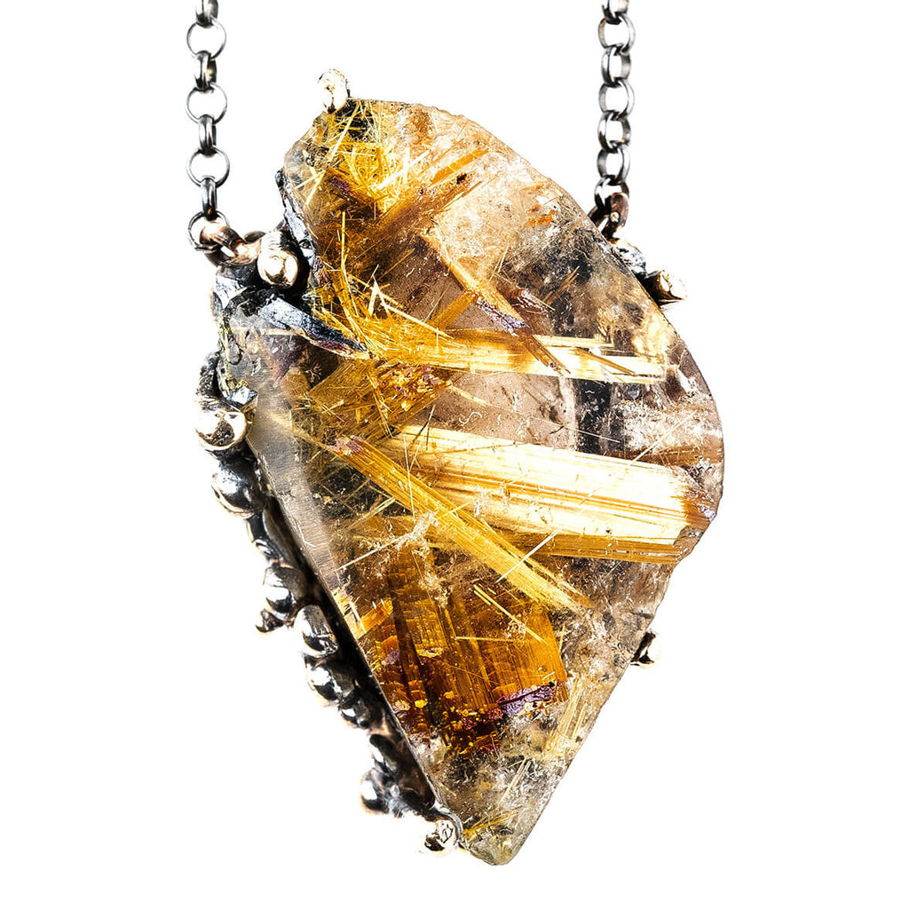Rutilated Quartz necklace - Crystal healing Jewel