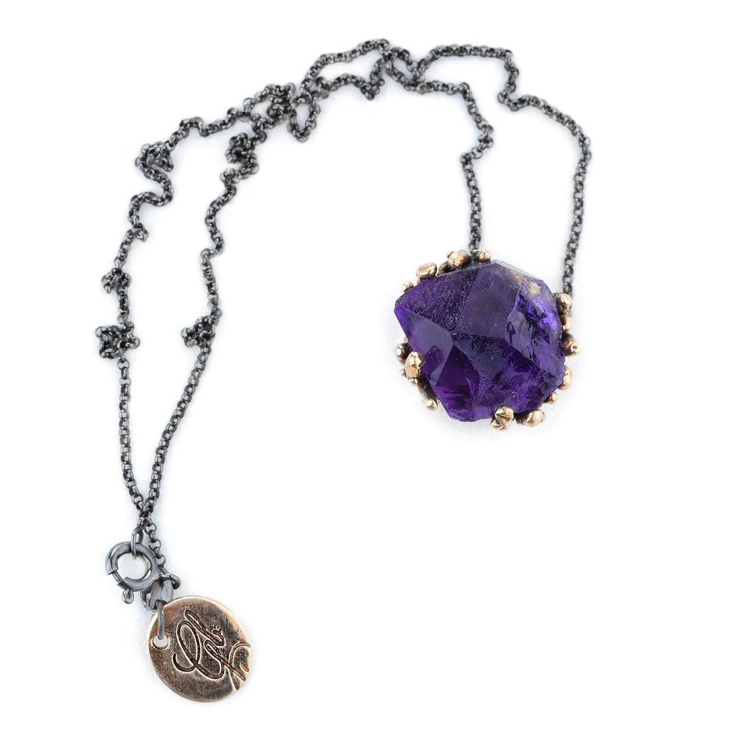 Top Quality Amethyst Necklace - Unique Piece - Giardinoblu Jewellery Milan