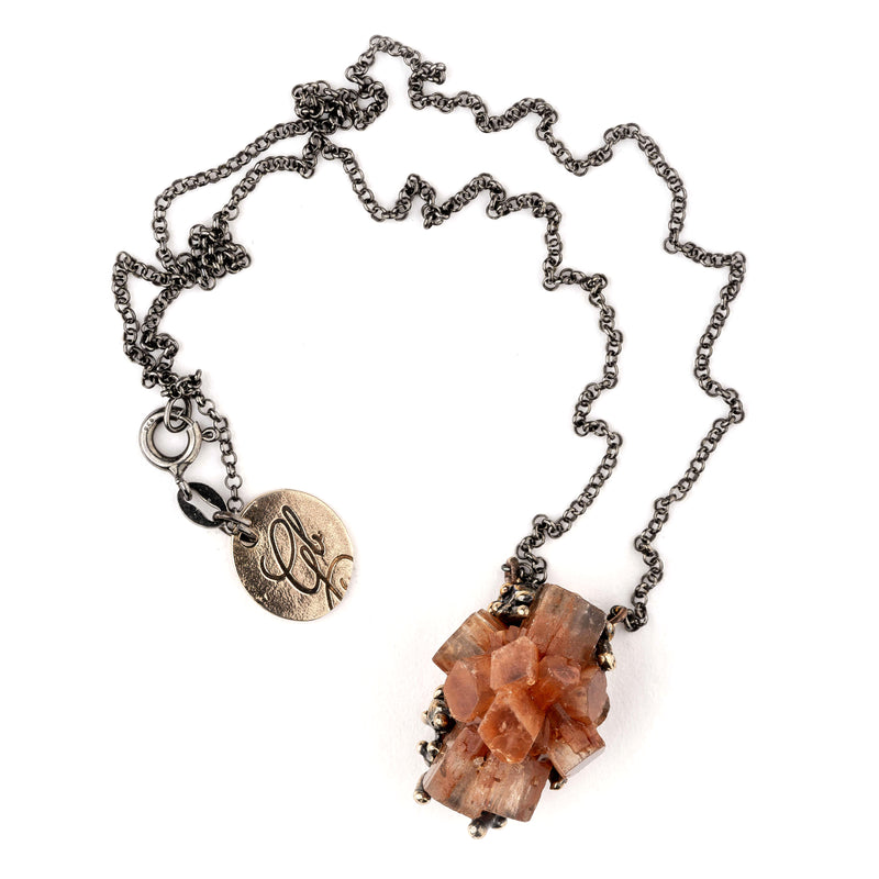 Brown Aragonite Necklace, Jewelry for spiritual Healing by Giardinoblu