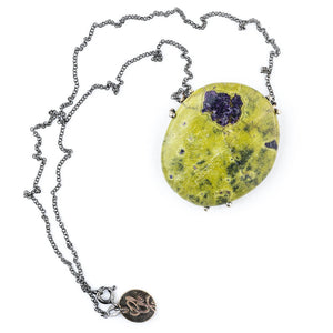 Atlantisite Necklace (Stichtite with Serpentine)