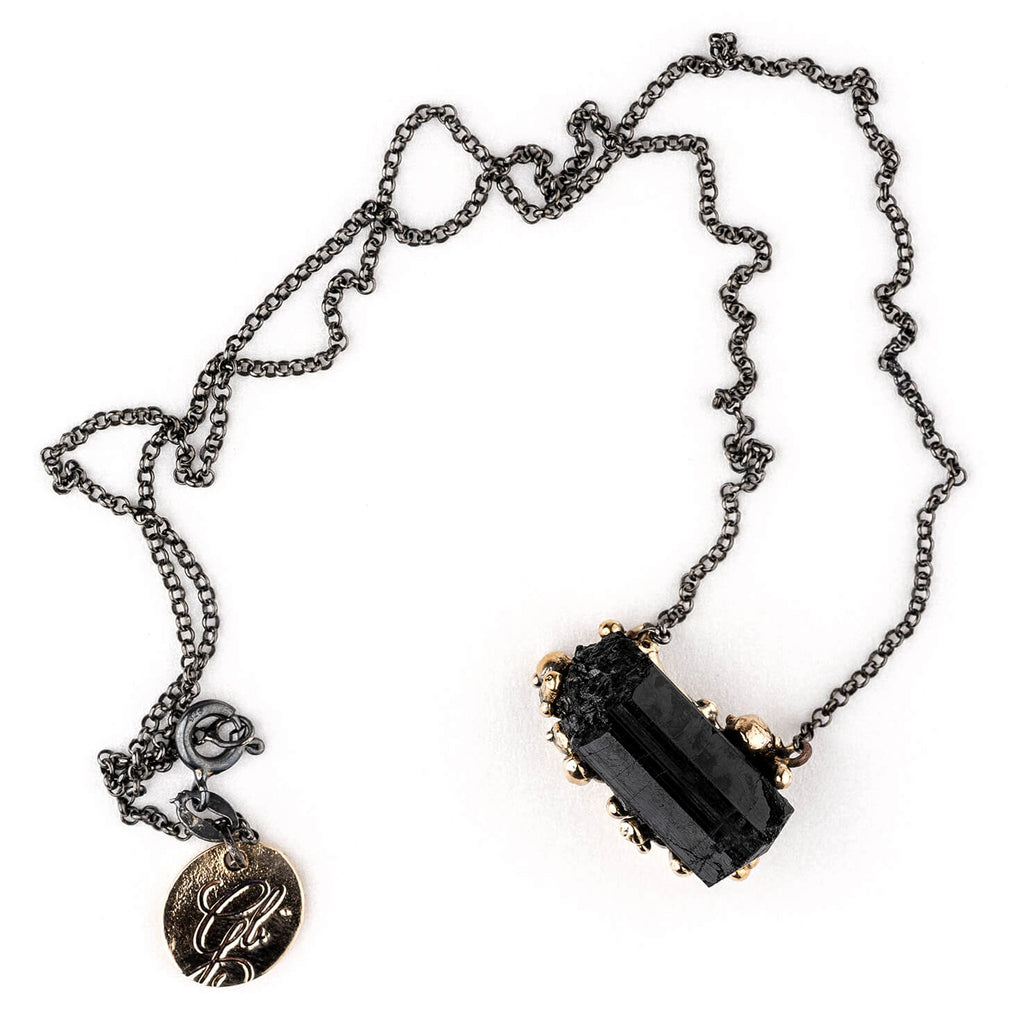 Black Tourmaline (Schorl) Necklace - Unique Piece