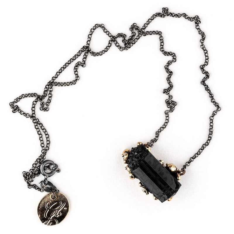 Black Tourmaline Necklace - Unique Piece