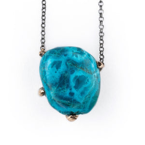 Chrysocolla Necklace, Talisman for spiritual healing