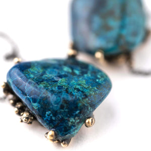 Chrysocolla Shattuckite Necklace | Giardinoblu Gemstone healing Jewelry