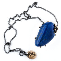 Lapis Lazuli Necklace - Gemstone healing Jewel - Unique Piece