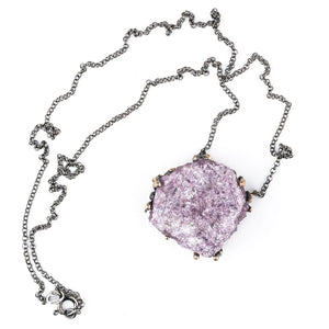 Lepidolite Necklace - Unique Piece